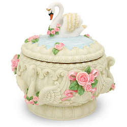 Swans and Roses Musical Keepsake Box