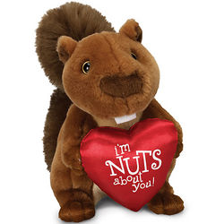 Valentine's Day I'm Nuts About You Plush Squirrel