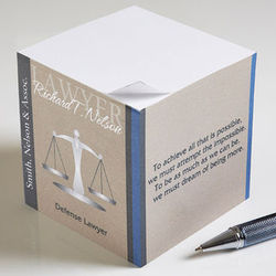 Personalized Scales of Justice Note Pads