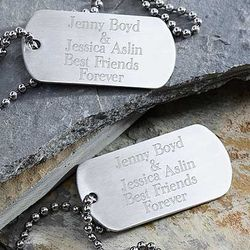 Kid's Custom Personalized Dog Tag Set