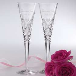 Romance-Inspired Crystal Toasting Flutes