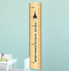 Rocket Ruler Personalized Height Chart