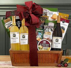 Hobson Estate White Wine Trio Gift Basket
