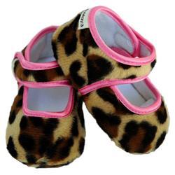 Lollipop Leopard and Pink Girl Baby Booties