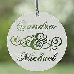 Circle of Love Personalized Glass Suncatcher