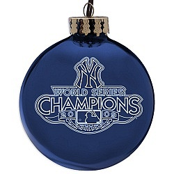 New York Yankees 2009 World Series Champions Etched Ornament