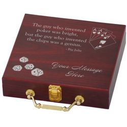 Personalized 100 Chip Poker Set