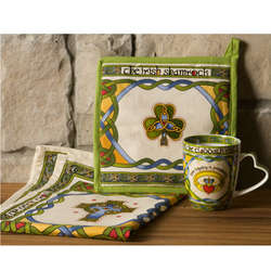 Shamrock and Celtic Kitchen Accessories Set