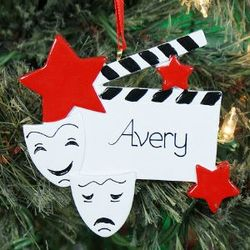 Personalized Drama Star Ornament