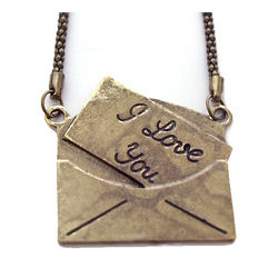 I Love You Envelope Necklace