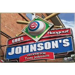 Chicago Cubs Baseball Personalized 24x36 Pub Sign Print