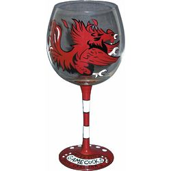 South Carolina Gamecocks Handpainted Wine Glasses