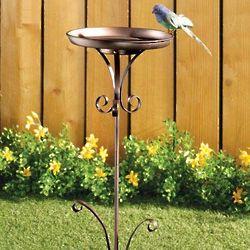 Metal Staked Birdbath