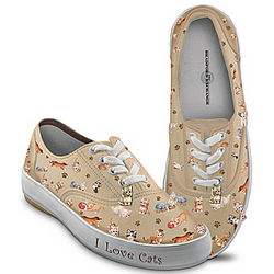 Kitten Capers Canvas Cat Lover's Sneakers