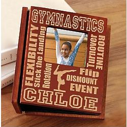 Personalized Wood Gymnastics Photo Album