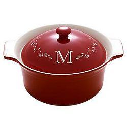 Personalized Round Casserole Dish