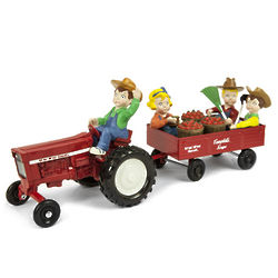 Campbell's Soup Diecast Tractor Figurine