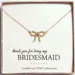 Gold-Plated Bow Necklace