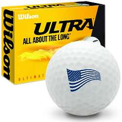 4th of July American Flag in the Wind Golf Balls