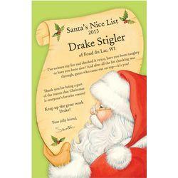 Personalized Santa's Nice List Certificate