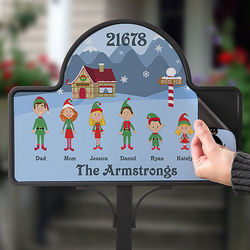 Personalized Cartoon Character Christmas Magnet