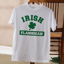 Personalized Irish Pride Shamrock T-Shirt