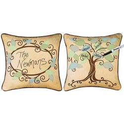 Family Roots Personalize Keepsake Pillow
