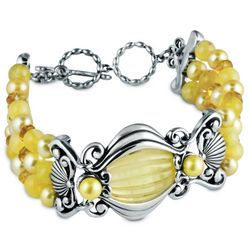 Jewell Island Golden Toggle Bracelet