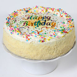 Vanilla Birthday Cake with Sprinkles