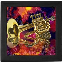 Jazz Trumpet Keepsake Box