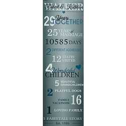 Our Years Together Anniversary Personalized Canvas Print