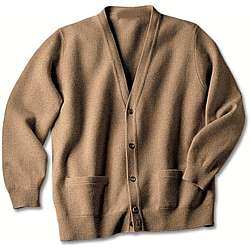 Men's Cashmere Cardigan in Plus Size
