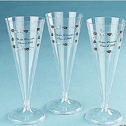 Personalized Graduation Champagne Flutes