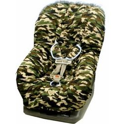 Daddy Camo Toddler Car Seat Cover with Blue Trim