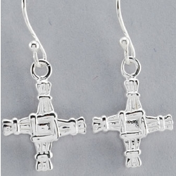 Sterling Silver St. Brigid Drop Earrings
