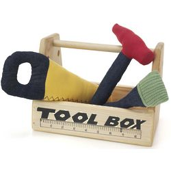 Organic Cotton Toy Tools with Toolbox