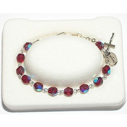 January Birthstone Rosary Bracelet