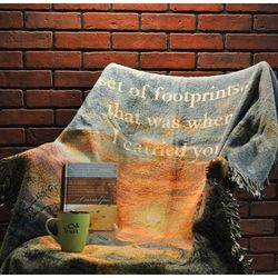 """Wrapped in Comfort """"Footprints"""" Sympathy Gift Basket"""