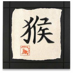 Year of the Monkey Chinese Zodiac Birthday Tile