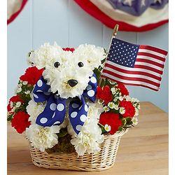 Yankee Doodle Doggie Floral Bouquet