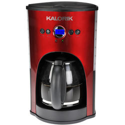 Red Metallic Kalorik Programmable 12 Cup Coffee Maker
