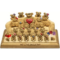 Christmas Sofa for Father with up to 26 Family Bears