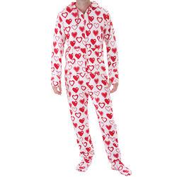 Men's Sweetheart Snuggle Fleece Hoodie-Footie