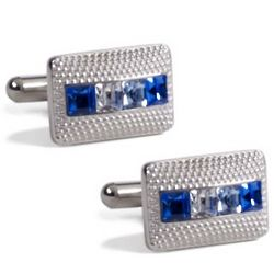 Swarovski Crystals and Textured Metal Cufflinks