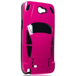 Hot Pink and Black Sports Car Cell Phone Case