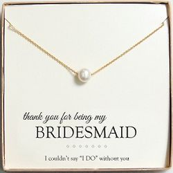 Floating Pearl Necklace for Bridesmaids