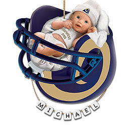 Personalized St. Louis Rams Baby's First Christmas Ornament