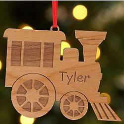 Personalized Wood Cut Out Christmas Ornament