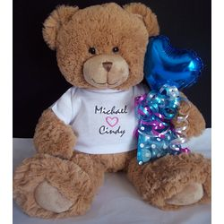 Valentine Teddy Bear with Hershey Kisses