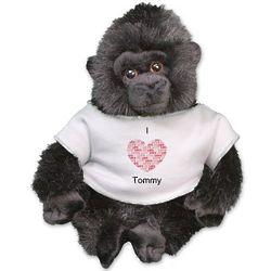 Personalized I Love You Gorilla